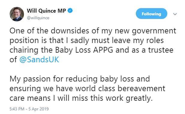 Will Quince MP tweet