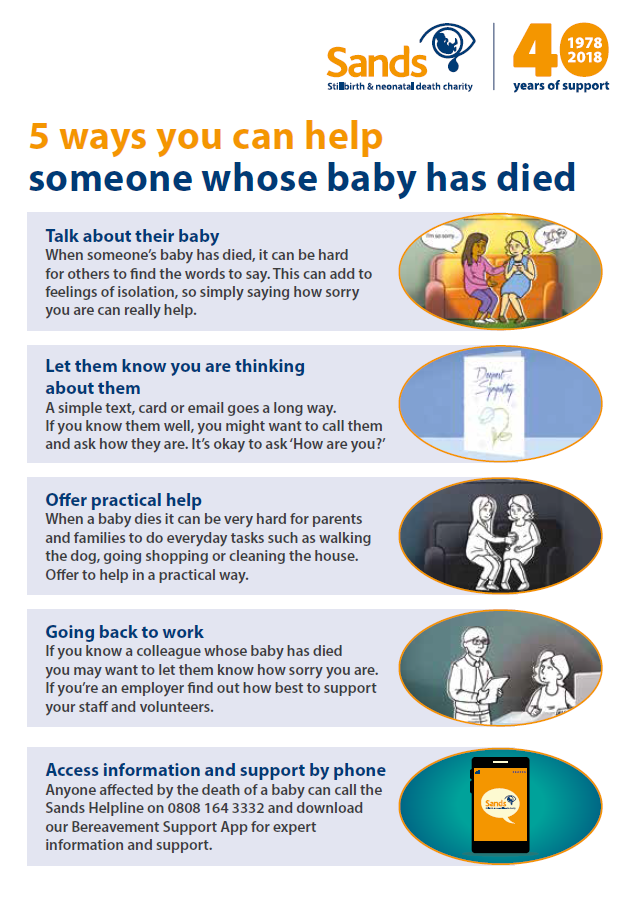 5 ways to help someone whose baby has died