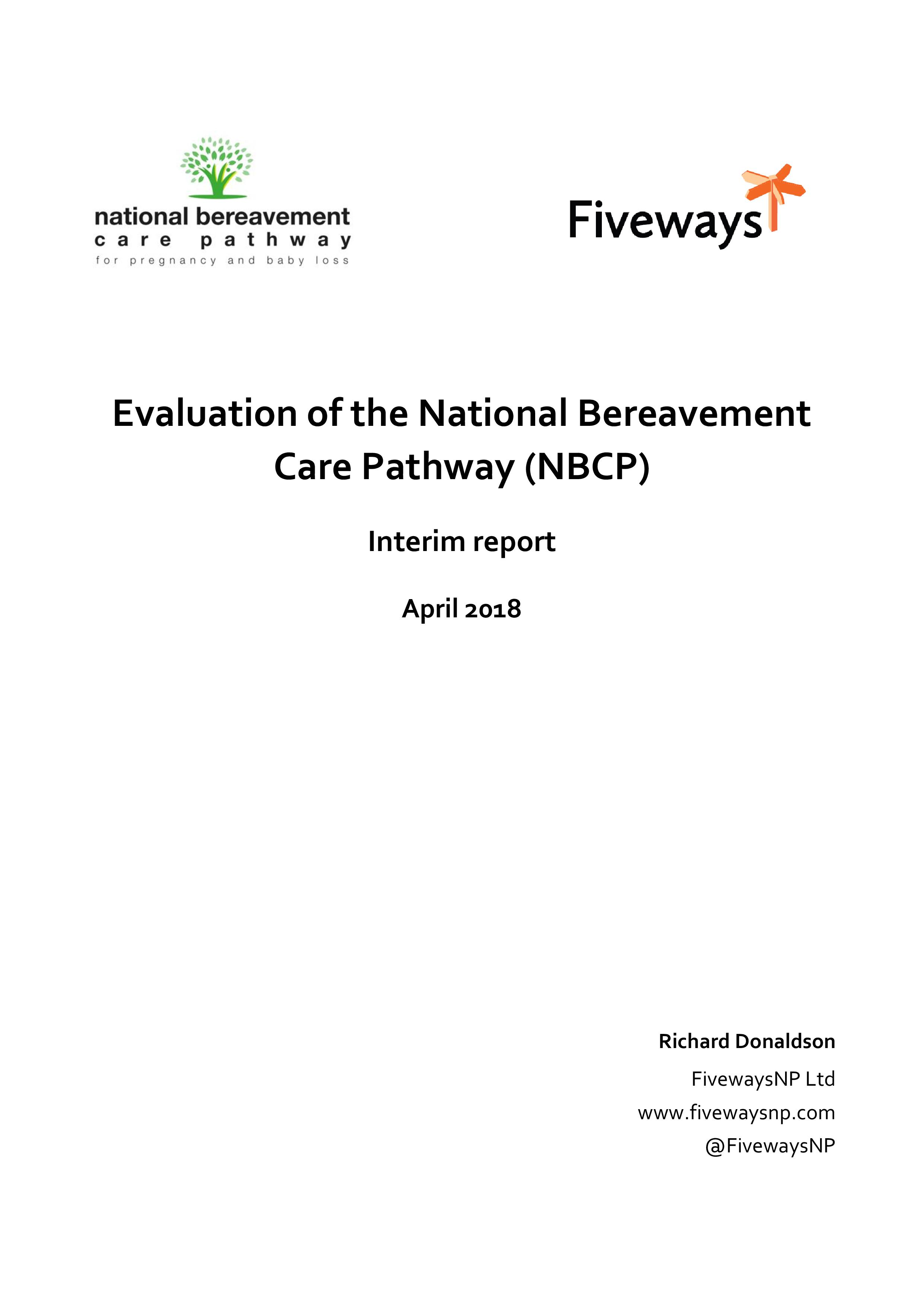 NBCP interim baseline evaluation report April