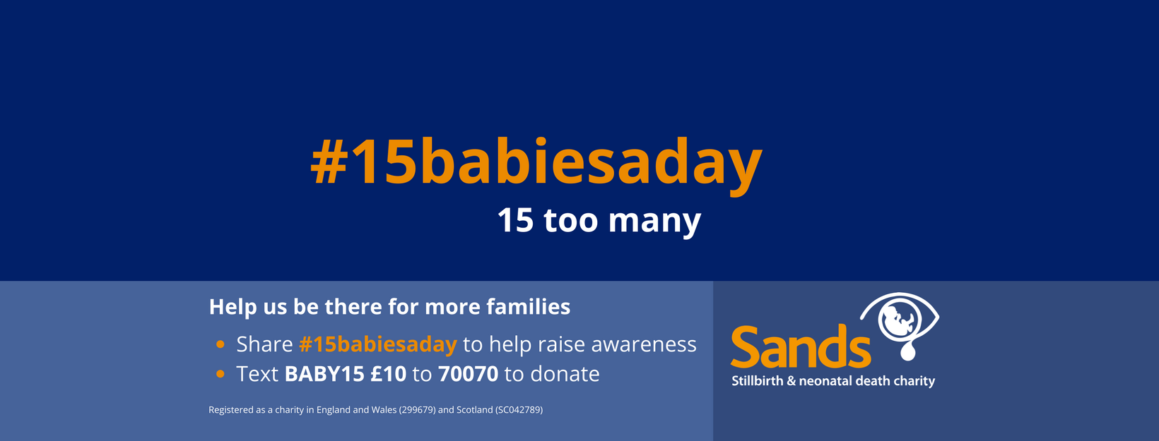 15 babies a day Facebook cover, #15babiesaday