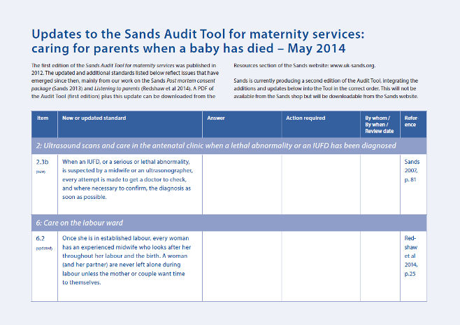 2014 Updates to the Sands Audit Tool