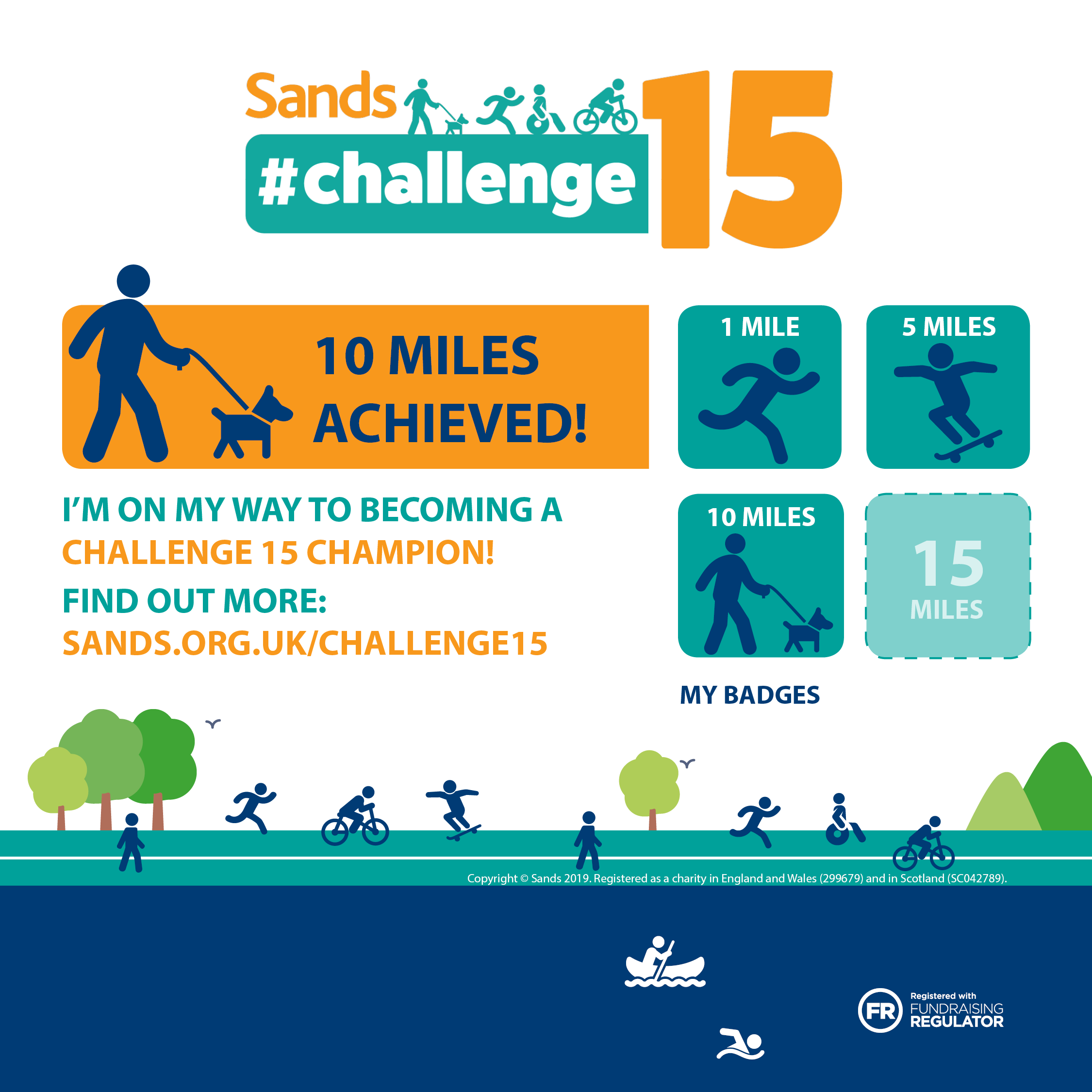 #Challenge15 - 10 mile badge - Instagram