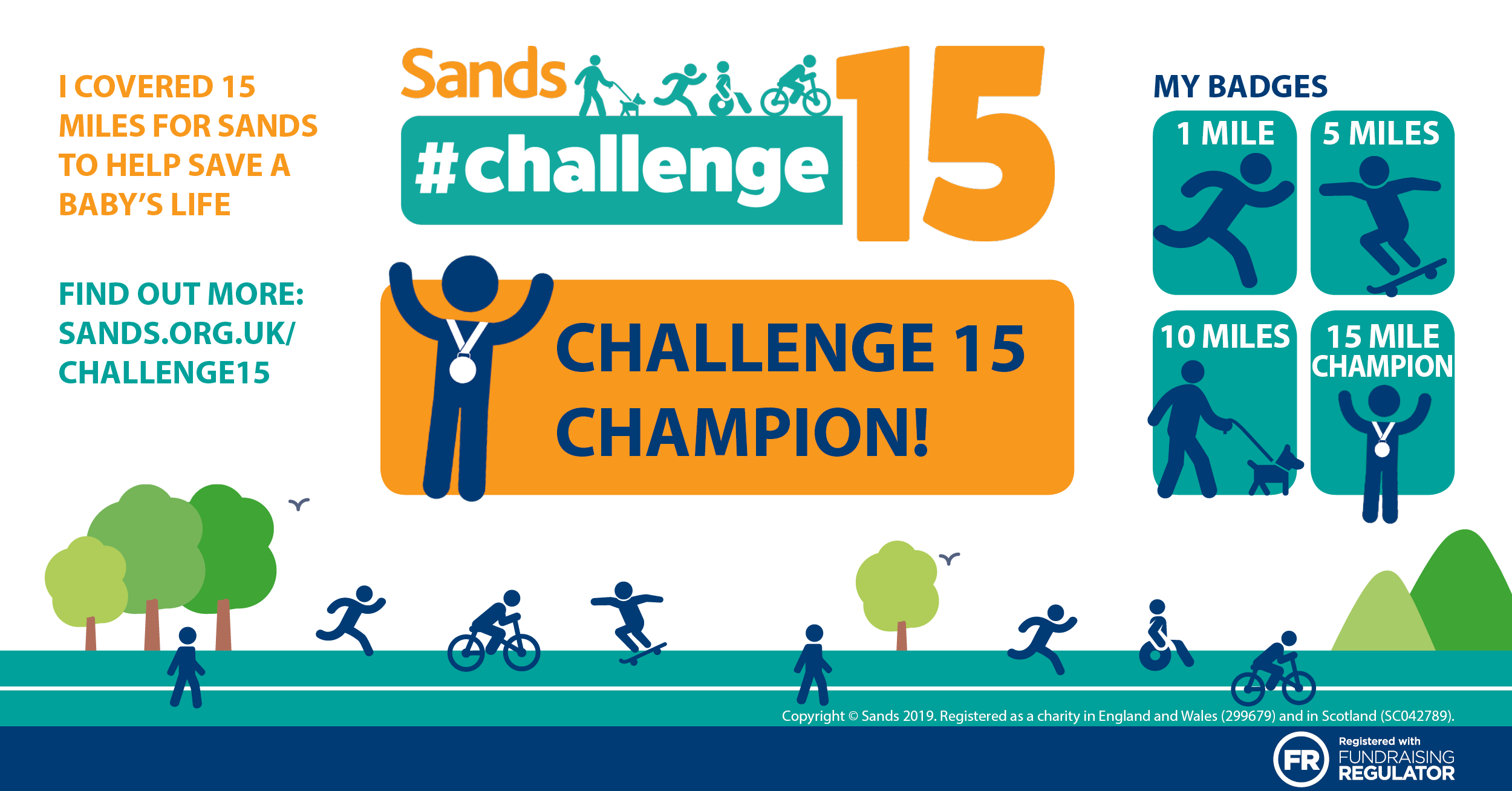 #Challenge15 - You are a Champion badge - Facebook