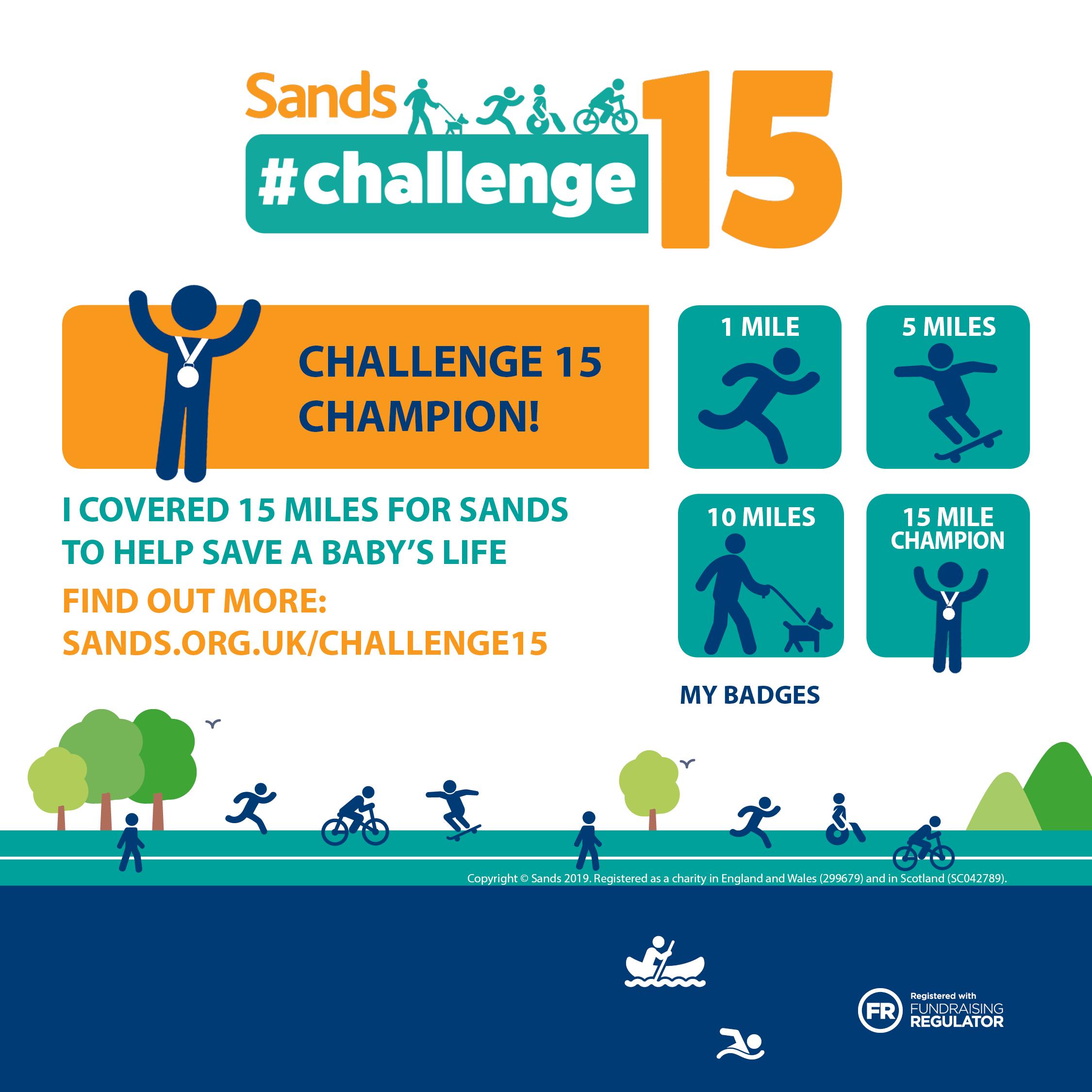 Challenge15   Sands - Stillbirth and neonatal death charity