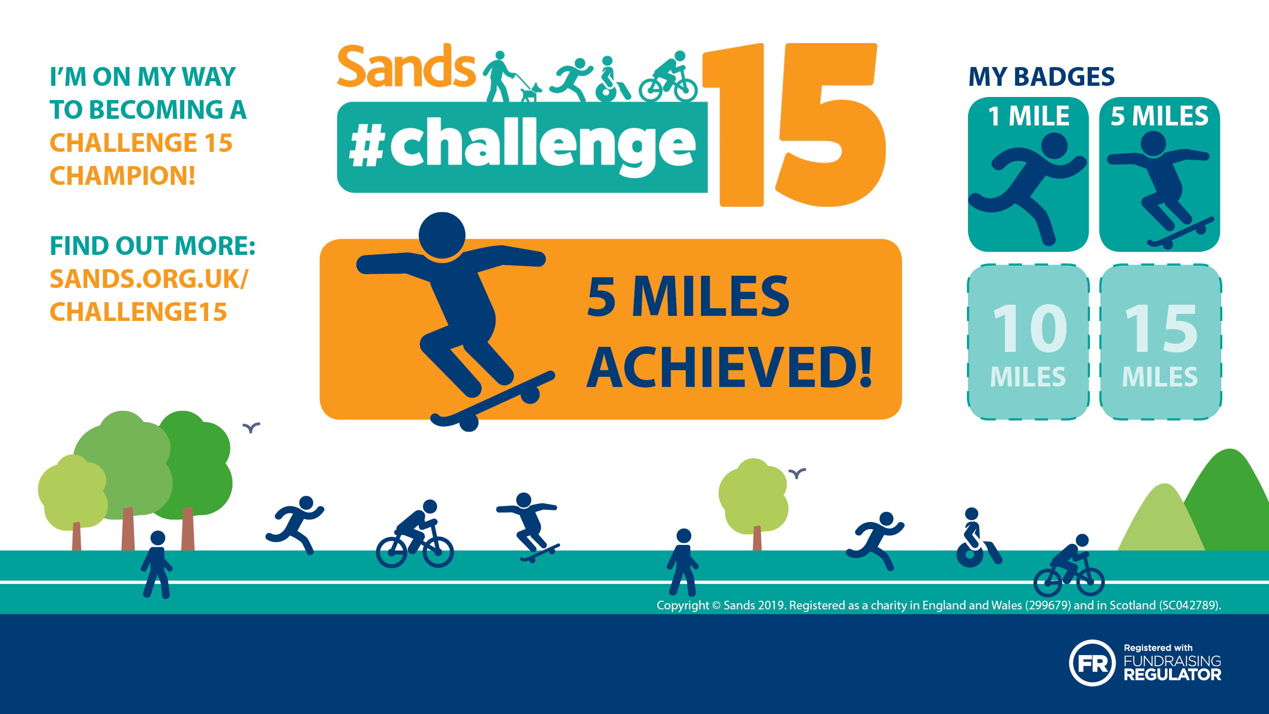 #Challenge15 - 5 mile badge - Twitter