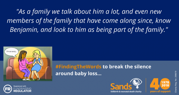 "#Sands40: ""We know that Benjamin is watching over us"" by Andrea and Ian Hawkes"