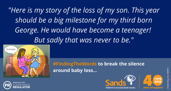 "#Sands40: ""My beautiful baby boy, George"" by Emma Bazeley"