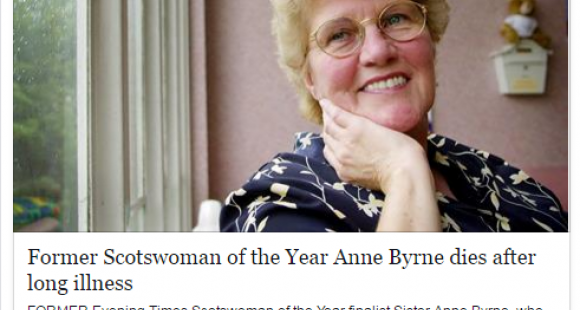Anne Byrne has died