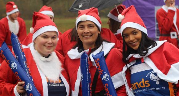 Clea Harmer, gift of support, blog, santa run, sands