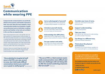 Communications with PPE for healthcare professionals