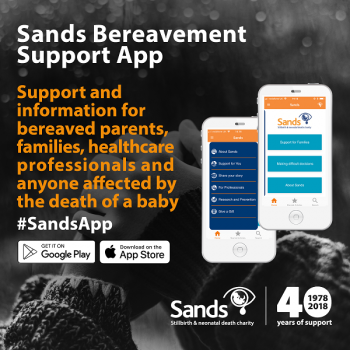 The social media graphic for the Bereavement Support App
