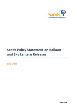 Sands Policy Statement on Balloon and Sky Lantern Releases