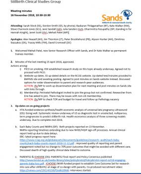 Stillbirth Clinical Studies Group (CSG) | Sands - Stillbirth
